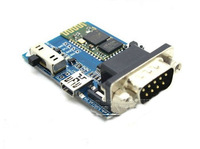 F08255 HC-05 Bluetooth Serial Adapter Bluetooth to RS232 Serial Bluetooth Communication Module Expansion Board+freeship