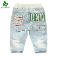 2014 new summer baby jeans 100% cotton denim capris children's trousers child sports thin pants kids shorts