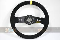 Sparc0 GOLDEN SHIELD Sandy Suede 13'' !! Racing Drafting Steering Wheels.Make it Fast-Car Styling