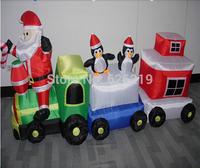 2M Hot-selling outdoor LED christmas  Inflatable  snow Santa Claus/Air Blown Xmas Pop Up Santa/Christmas Inflatables