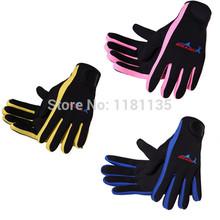 Free Shipping Scuba Wetsuit Diving Surfing Snorkeling Kayaking Winter Swimming Gloves 1.5MM Neoprene Skid-proof(China (Mainland))