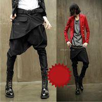 CR-68 new 2014 dance harem pants Men hip hop fashion Hip hop harem baggy pants Skinny joggers sport drop crotch black jogger
