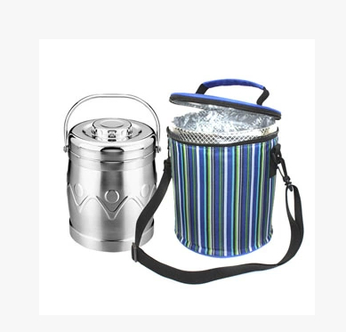 Cylinder 600D PEVA cooler bag cans large capacity lunch bag folding insulation beer package cooler bag 2014 hot sale free(China (Mainland))