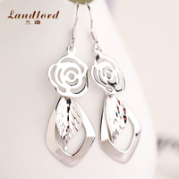 Hot sale Bohemian Style Statement Earrings for women Drop Earrings 925 sterling silver jewelry Long Dangle Earrings X017