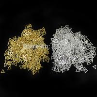 500pcs/lot 4x4mm Fashion Triangle Metal Nail Art Decoration Metallic Studs Rivets DIY Tiny Tips Golden or Slvier Optional B1652