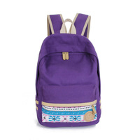 2014 New arrival fashion canvas women backpack casual prepy style student shool bags travel bags 7 colors