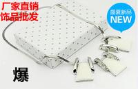 Accessories fashion black and white stone for big short necklace design chain pendant