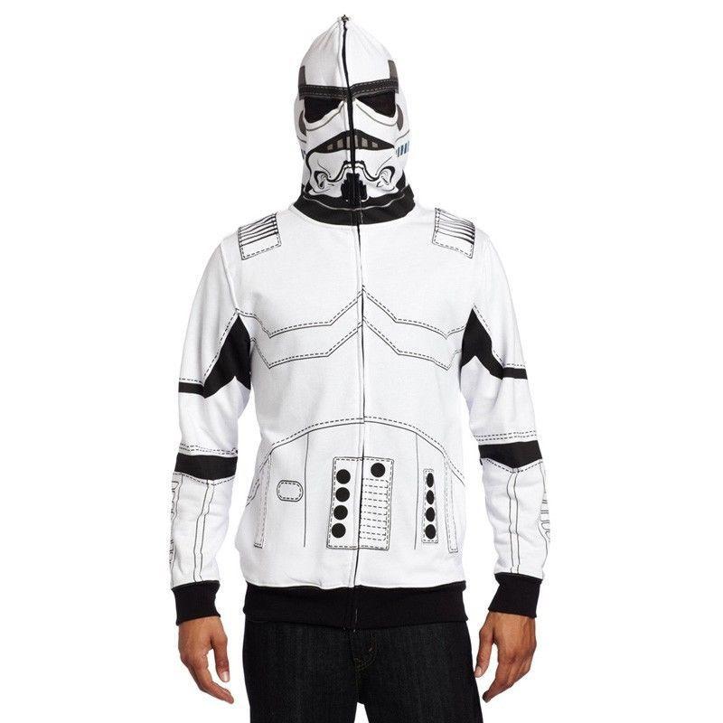 Star Wars Men s I am a Trooper Fleece Hoodie Coat Sweatshirt Cosplay Costume Jacket