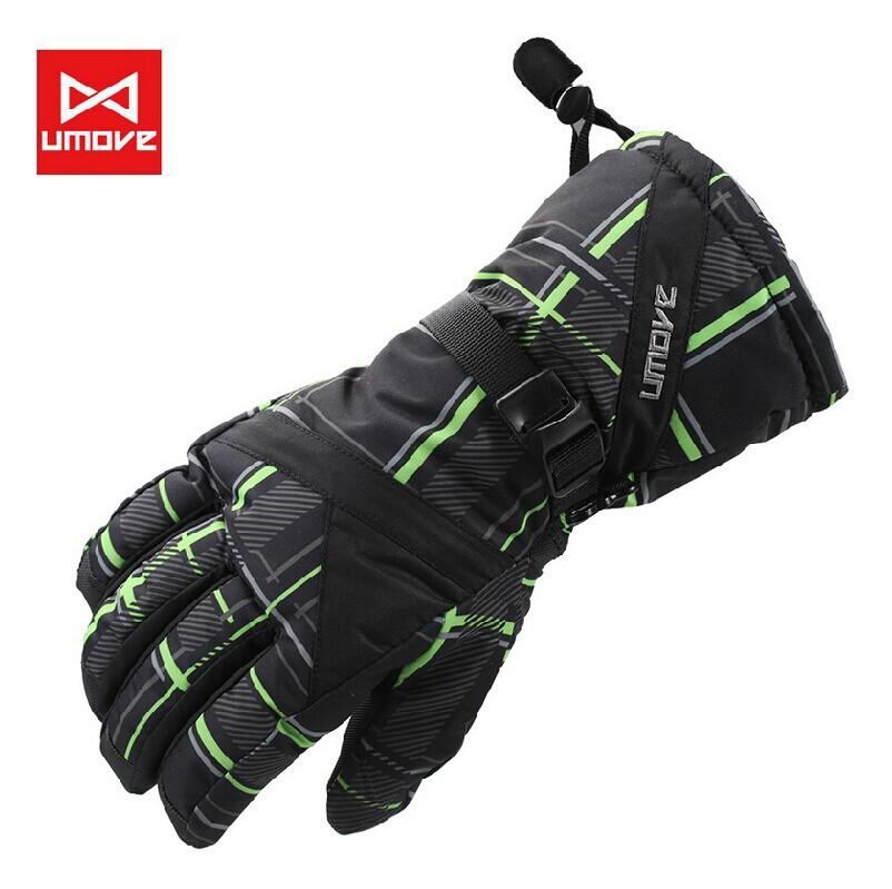 Livraison gratuite 2014 hommes gants sports de neigeimperméable à l'eau, vent chaud motoneige ski gants, hiver gants de moto