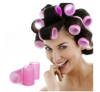 6pcs/lot Large Velcro Hair Rollers Styling Roller Curler Hairdressing Tool Fashion Roll Free Shipping