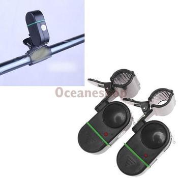 2 шт. автоматический электронный удочка сигнальные лампы укус водонепроницаемый рыба набат охранная сигнализация BHU2