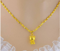 Free shipping 2014 New Jewelry super deal vacuum plated 24K gold necklace & pendant jewelry for women free shipping    A126