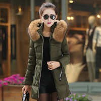 Free shipping 2014 version of the thick collar big yards long section of women's jackets Slim Down coat big overcoat 5808