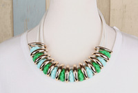 Statement Colorful Acrylic Necklaces Pendants For Women Fashion Bohemian Rope Collar Necklace Choker Vintage Jewelry 2014 New