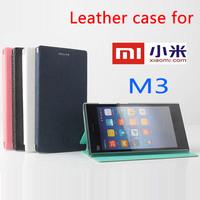 Original Xiaomi Mi3 flip case m3 flip leather case High Quality xiaomi phone cover