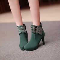 2014 autumn sweet women 's shoes waterproof platform stiletto heel boots wedding shoes  fSfT