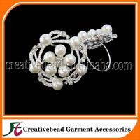 2014 New Style Hot Slae Products Crystal Rhinestone Pearl Napkin Ring for Wedding