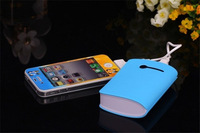 200pcs/lot Small pretty waist 3th Power Bank 8400mAh USB External Backup Battery Pack Charger With retail packaging