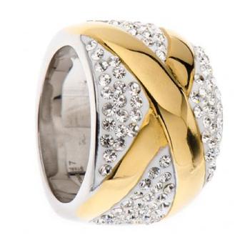 Кольцо из нержавеющей стали 18 К позолоченные X ювелирные изделия женщины и мужчины