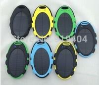Portable Waterproof Solar Charger 5000mah External Battery Solar Power Bank for Mobile Phone 50pcs