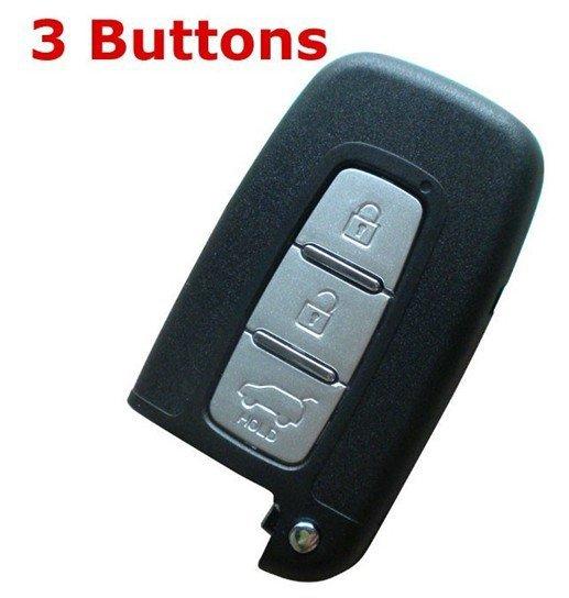 for Hyundai 3 Buttons Smart Card Shell(China (Mainland))