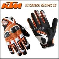 New original KTM racetech 12 motorcycle gloves motorbike motorcross ATV Offrod gloves Free shipping worldwide