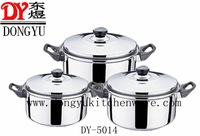 DY-5014 6pcs Mirror Polished Stainless Steel Gift Export Stockpots with Double Handles, Manufactory Price Promotion Cooking Pots