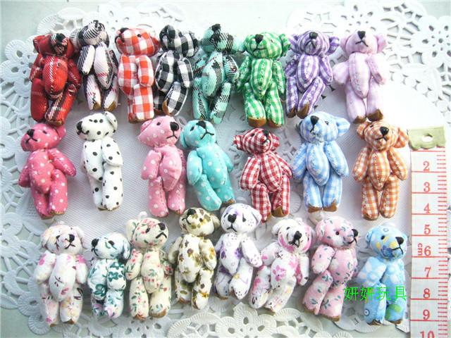 Plush toy joint Small mini bear pendant shoes decoration hat(China (Mainland))