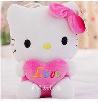 dark pink heart hello kitty birthday present soft toy kids toy girlfriend's gift one piece free shipping
