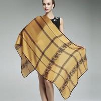 Plus Size 180*90cm Women 100% Silk Scarves New Fashion Print Pattern Lace Scarf Lady Multicolor Vintage Long Scarf Winter Shawl