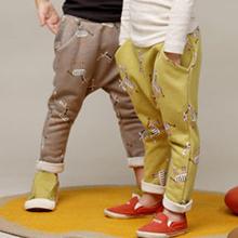retail 1 pcs new 2014 spring autumn boys girls clothing pants baby child casual Harem pants kids long trousers cartoon CC1296(China (Mainland))