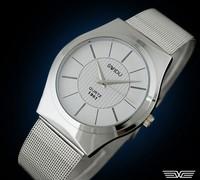 FREE SHIPPING Fashion & casual high quality WATCH Grid steel belt Men's Quartz wristwatches d145