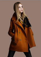 Lady's winter cloth coat long Europe and the United States double-breasted women outwear