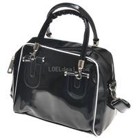 Korean Style Fashion PU Patent Leather Messenger Bag/Handbag