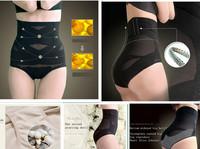 NEW 2014 1pcs Control Panties High Waist Corset Panties Size M L XL XXL Breathable Body Shaper Wear Underwear Free Shipping