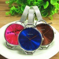100pcs/lot Fashion Women Womage Quartz Wristwatches Thin Wire Reticularis Watchband Watches Man Women Steel Quartz Dress Watch