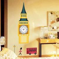1 set/lot New arrival 2014 UK Big Ben Clock Wall Stickers Kids Room & Bedroom Wall Decals Wallpaper  free shipping