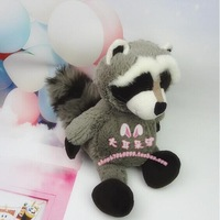 cute raccoon plush toys stuffed raccoon doll with big tail birthday gift toy about 35cm