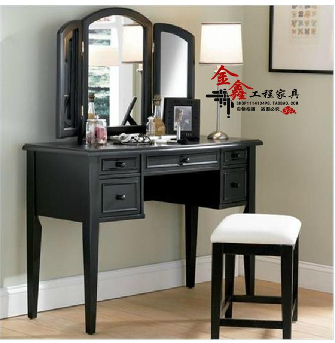 Neighbor Markor stylish modern wood dresser with mirror makeup small dressing table cabinet designer furniture(China (Mainland))