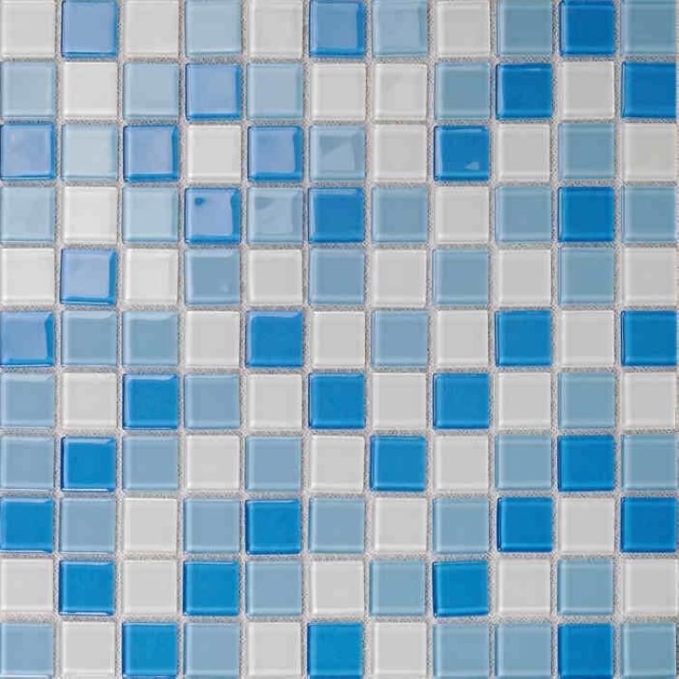 Azulejos Baño Vidrio:azul mosaico de vidrio azulejos de pared decoración baño azulejos