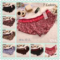 E016 Hot Sale 6 PCS/lot Flower Leopard Fitness Briefs  Sexy String Women's Lace Panties Mesh Girl's Bow Victoria Underwear