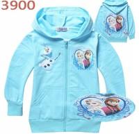 2014 new autumn children outerwear,frozen children hoodies,girl clothing,2 different style,free shipping