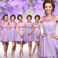 2014 sweet Bra lace short dresses Bridesmaid Dress fashion vestido de madrinha plus size vestido de madrinha real sample 812 kc