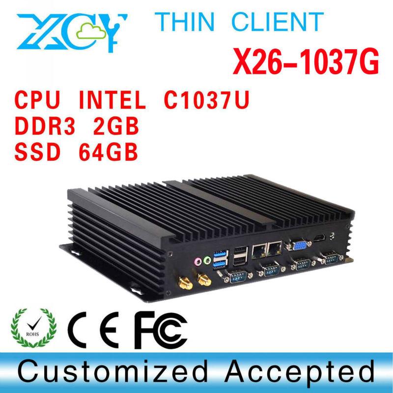 Good market! XCY X26-1037G fanless htpc have 2*RJ 45Lan port gigabit support VGA port(China (Mainland))