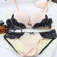 2014 VS Brand Women underwear Bra Sets , BRA + Hollow Panties Lace bra Sexy push up bra and briefs sets brassiere lingerie set