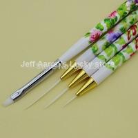 4 PCS Nail Art Brush Set  Acrylic Drawing Painting Liner Pen Nail Brushes Beauty Tool