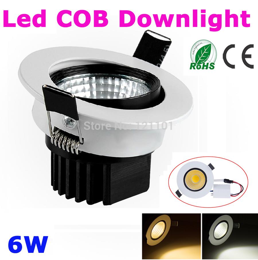 1pcs 6W LED COB downlight AC110V 220V 240V LED Bulb LED lamp led Spot for home bathroom illumination warm white cold white(China (Mainland))