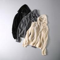 Fashion New Original Japan Women's Long Sleeve Open Zipper Hollow Hooded Summer Coat Top Free Shipping