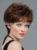 WQ &Wholesale&>>>Fashion wig New sexy women's short Dark Brown Natural Hair wigs