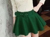 New 2014 Autumn Korean Fashion Cotton Skirts womens skirt High Waist  Ball gown Short Skirt  Mini Skirts Free Shipping 656